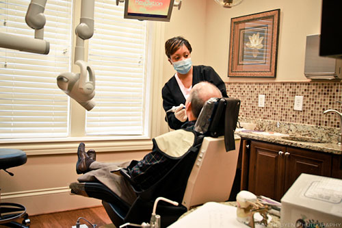Assistant operates patient at Reich Dental Center in Smyrna, GA and Roswell, GA